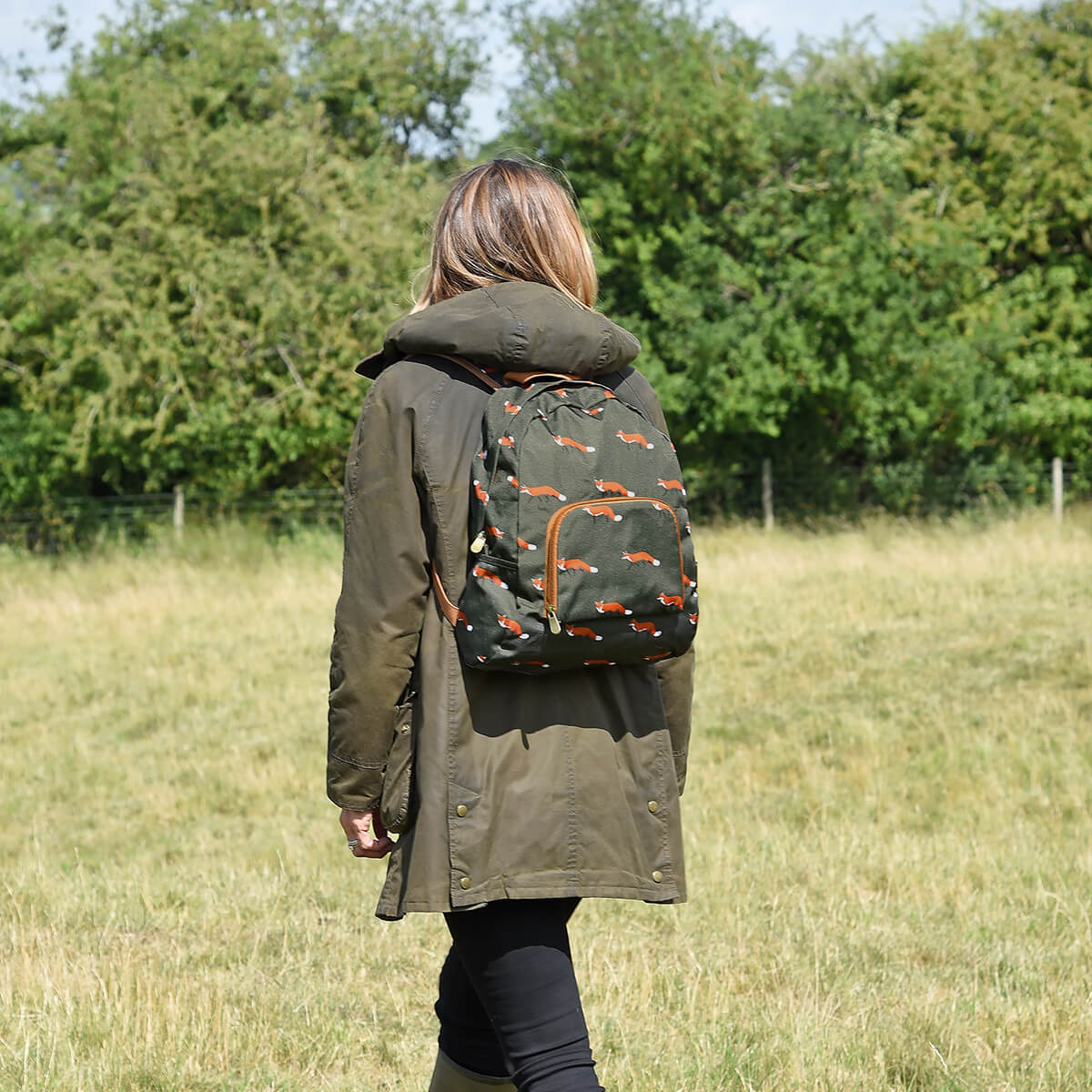 Foxes Folding Rucksack by Sophie Allport