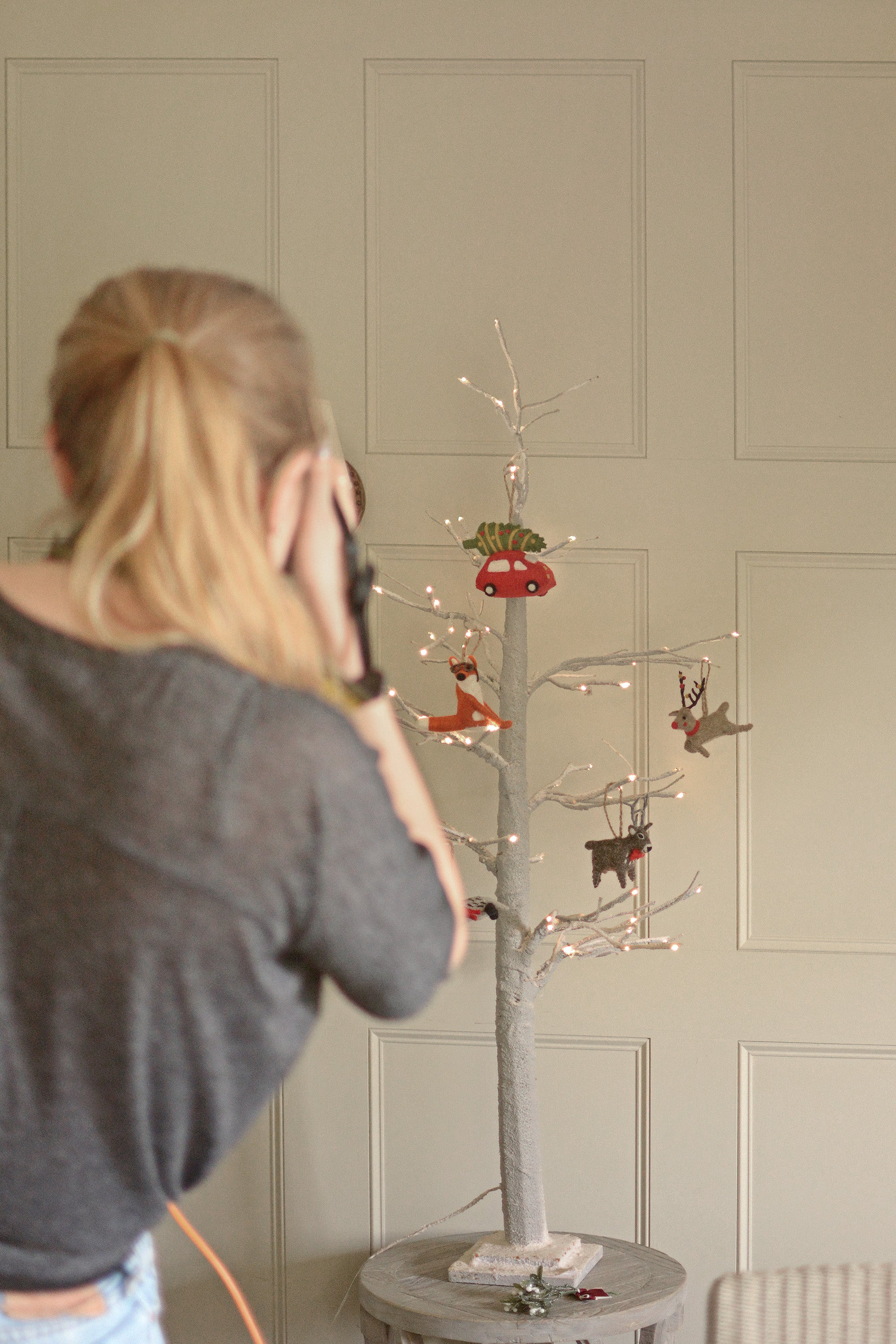 Photo shoot At Home for Christmas Sophie Allport