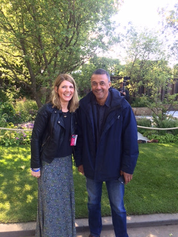 Sophie Allport and Cleve West and his amazing M&G garden