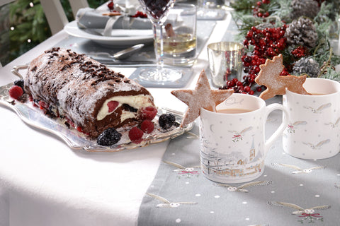 Chocolate roulade recipe. Great alternative to Christmas pudding for festive period. Simple gluten free recipe.
