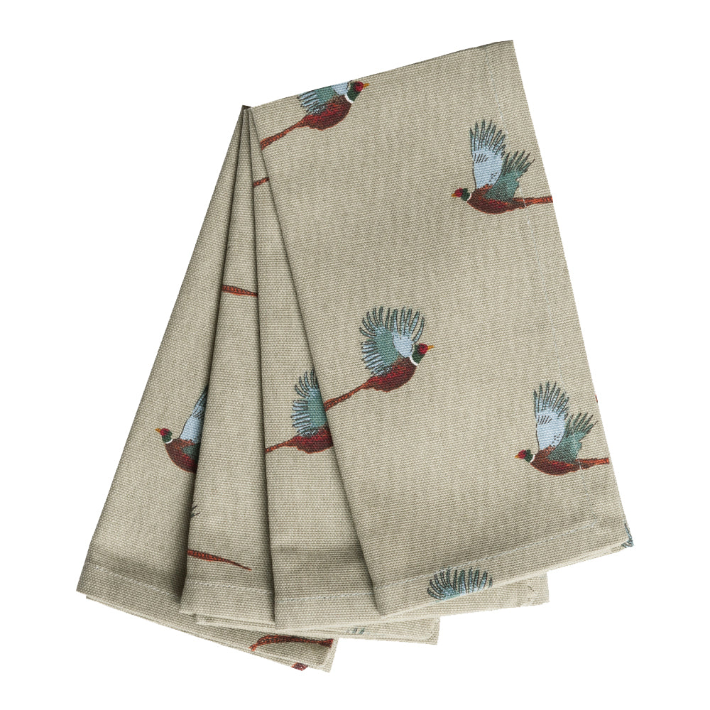 Pheasant Napkins (Set of 4)