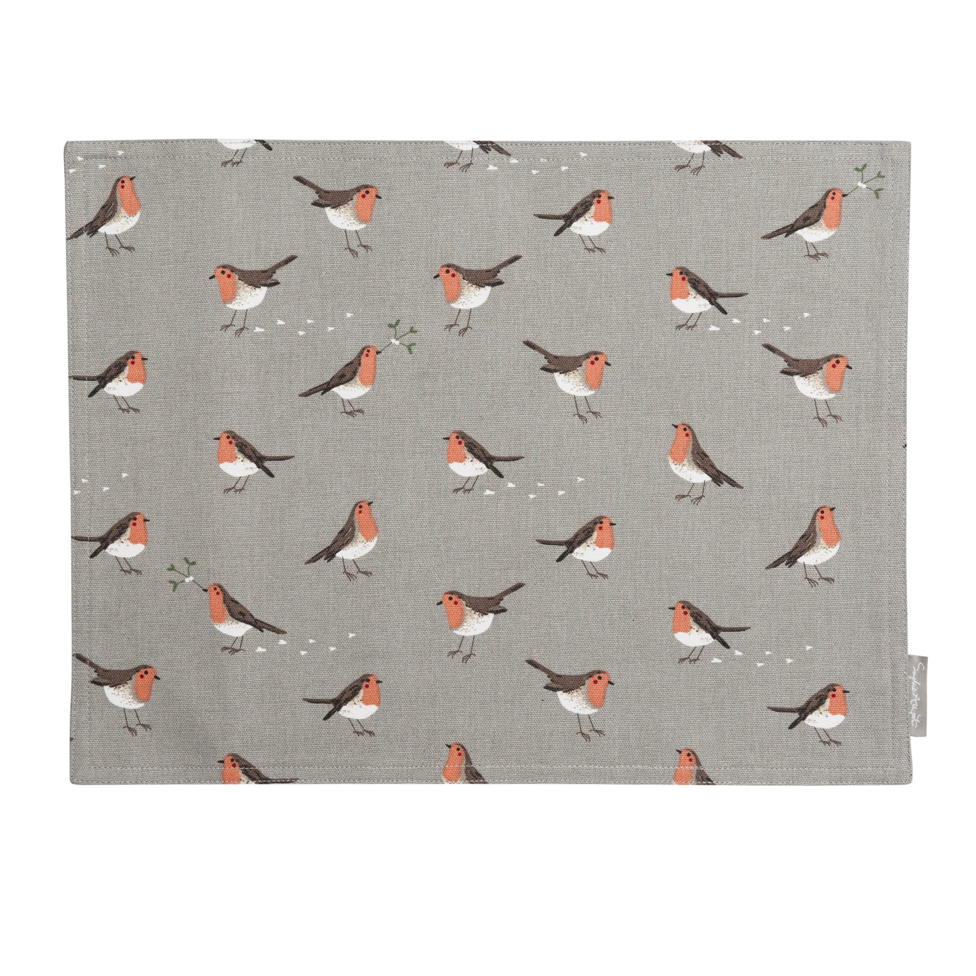 Robin & Mistletoe Fabric Placemat