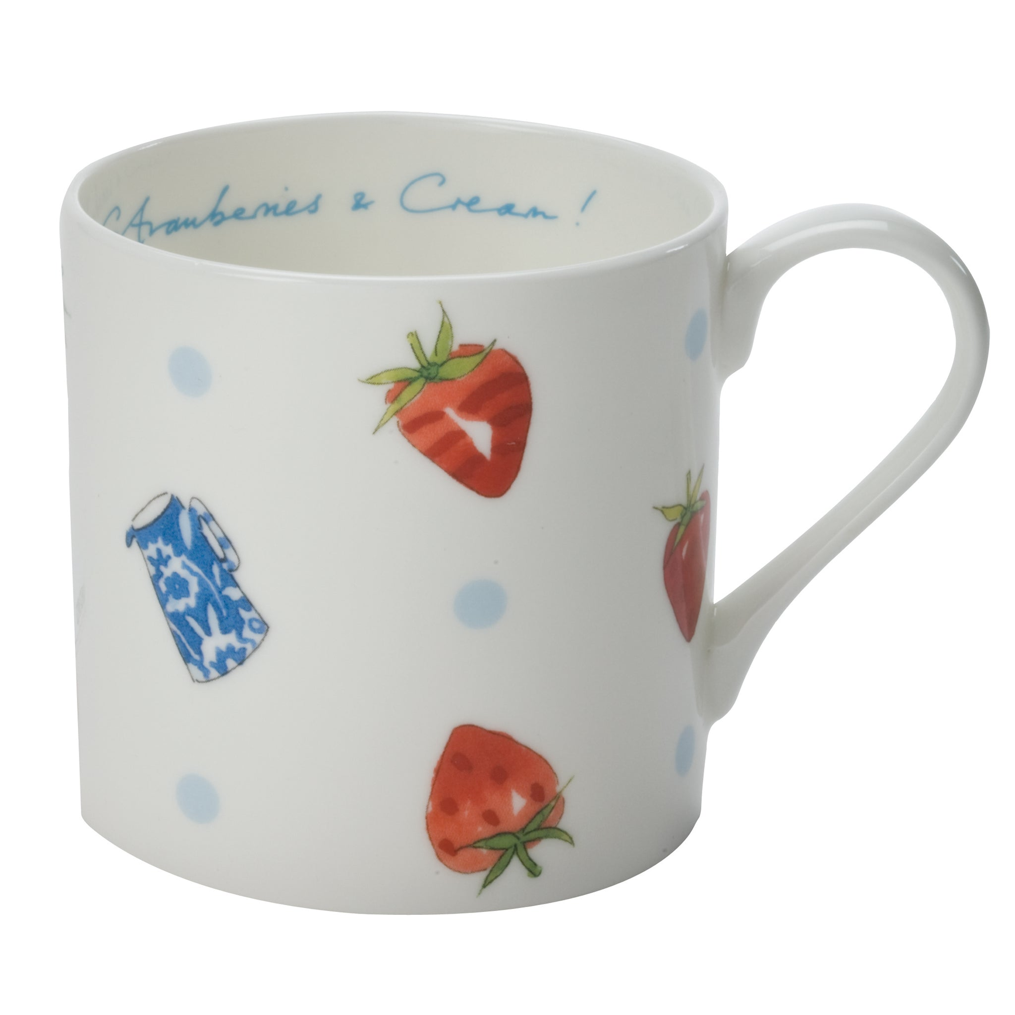 Strawberries & Cream Mug - White