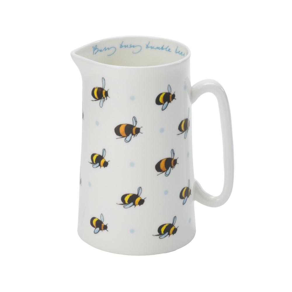 Busy Bee White Jug