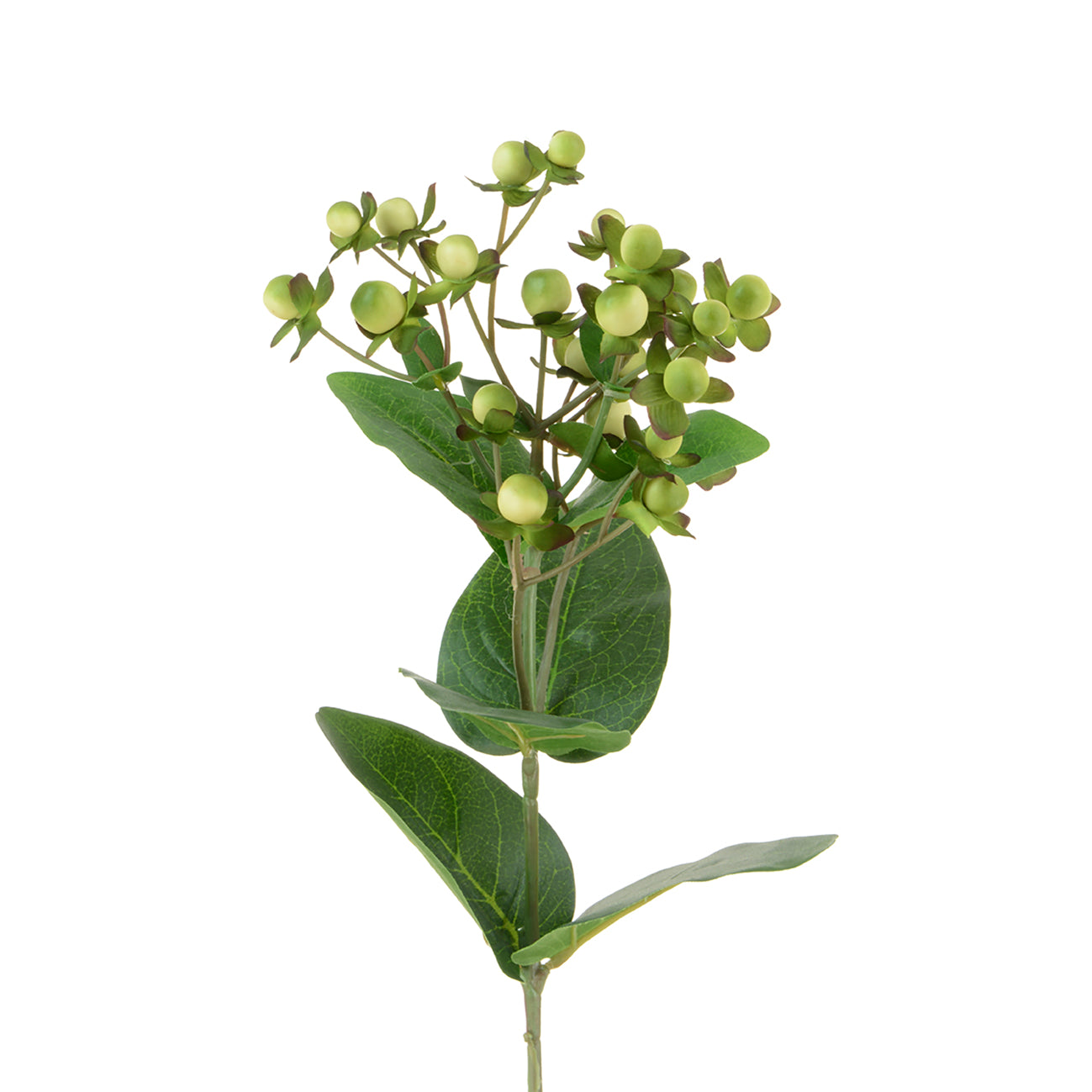 Faux Cream Green Hypericum Artificial Flower by Sophie Allport