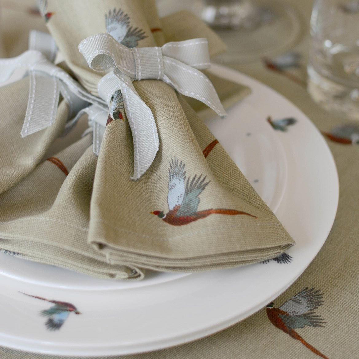 Pheasant Napkins - Set of 4