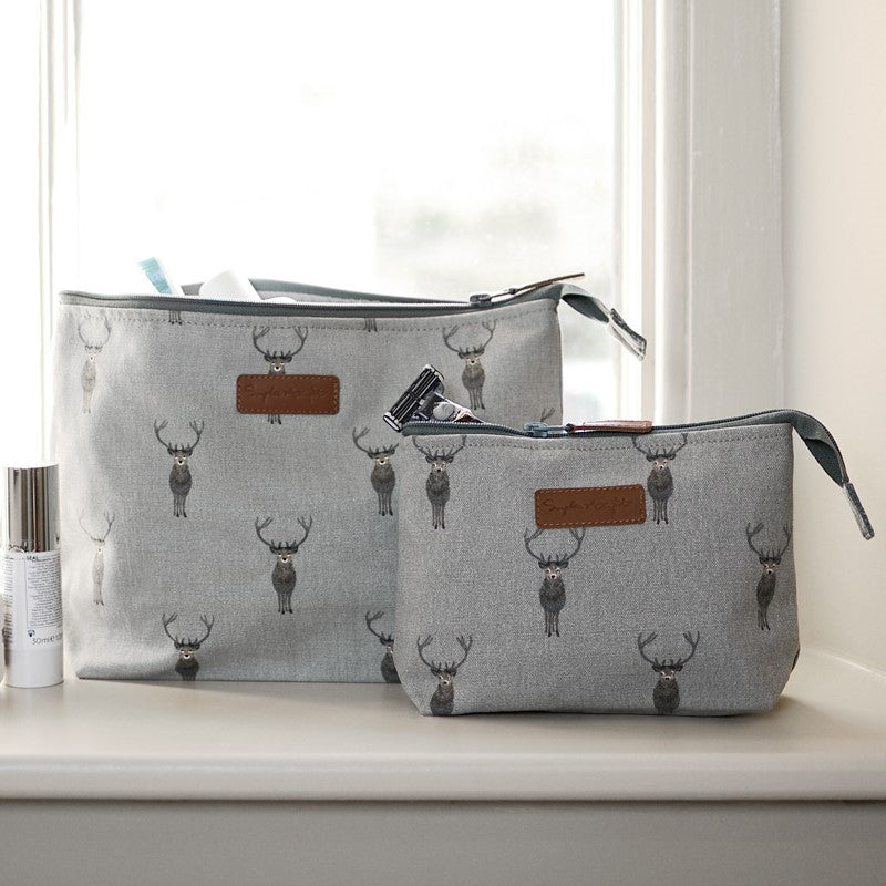 Highland Stag Canvas Makeup Bag