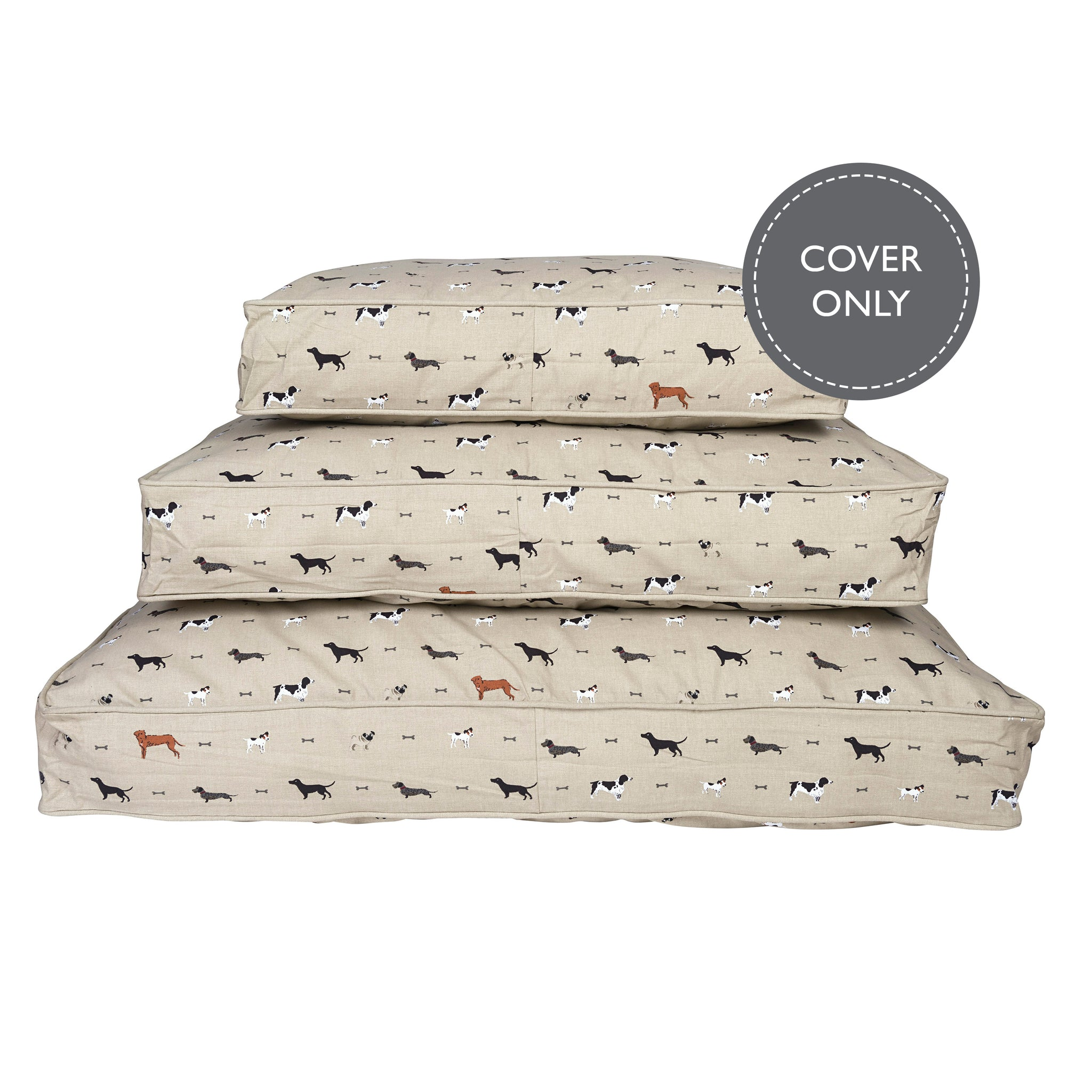 Woof pet mattress cover by Sophie Allport