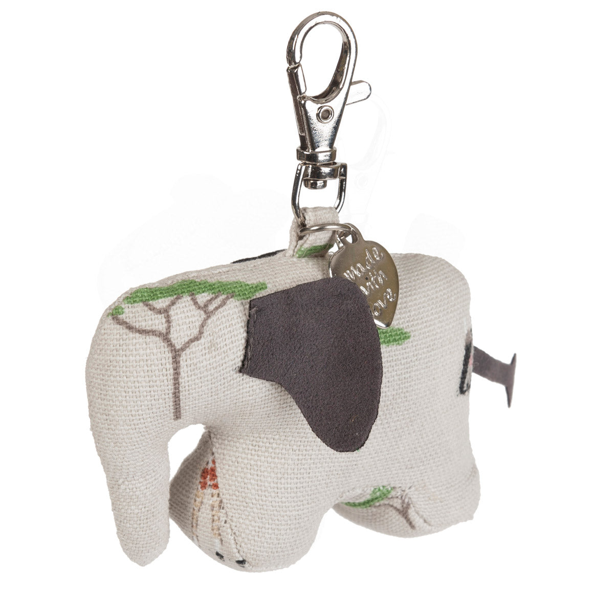 Safari Elephant Keyring