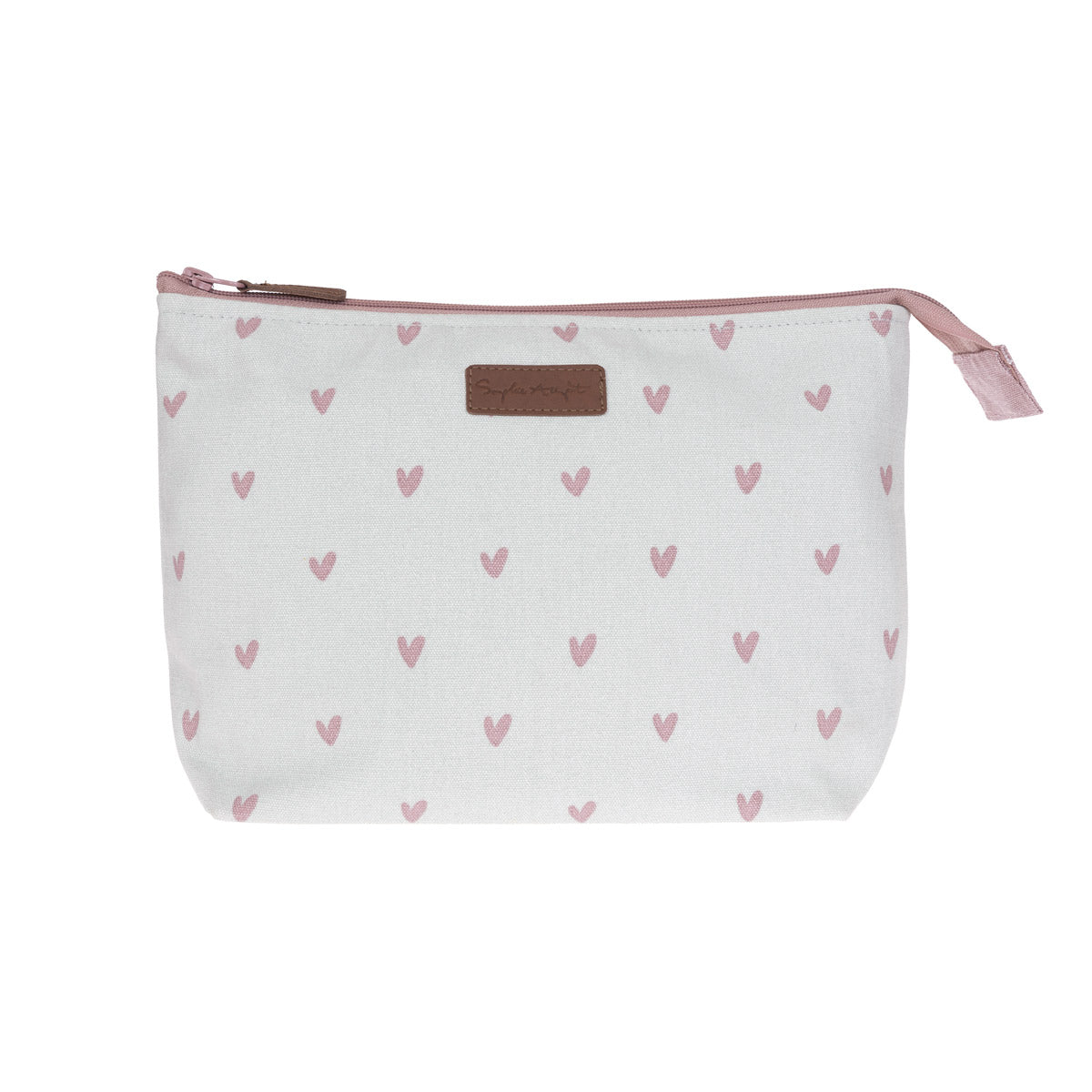 Hearts Canvas Wash Bag - Large