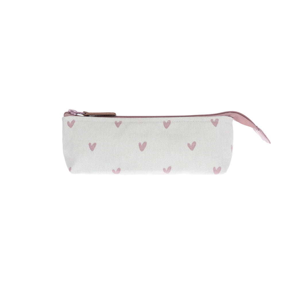Hearts Canvas Accessory Case
