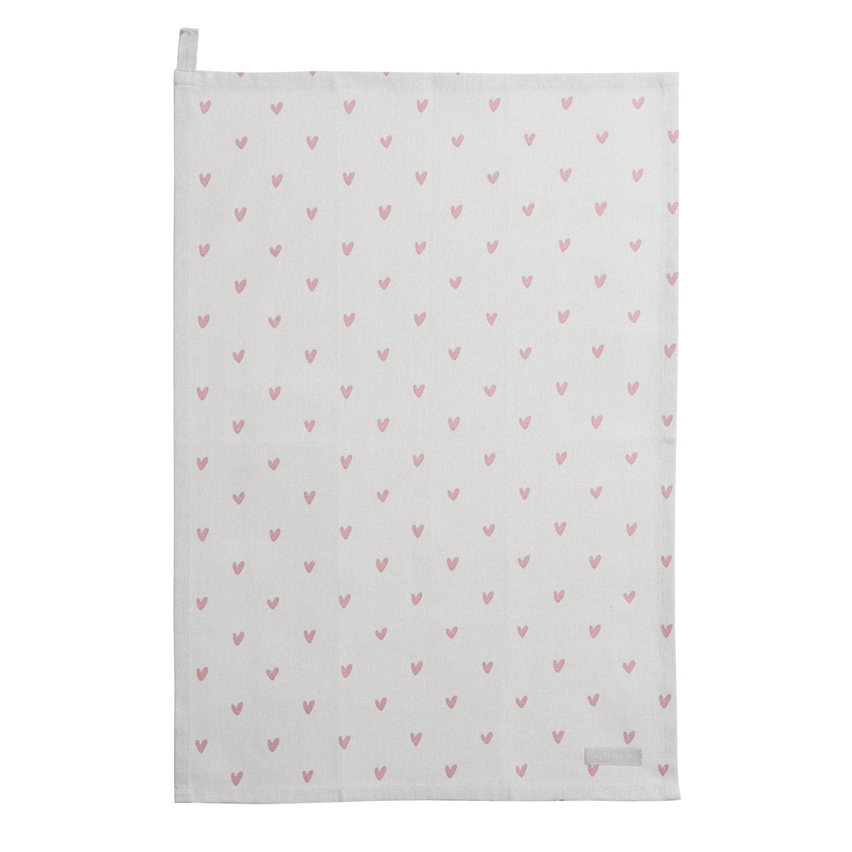 Hearts Tea Towel Set of 2 Pink & Grey Hearts