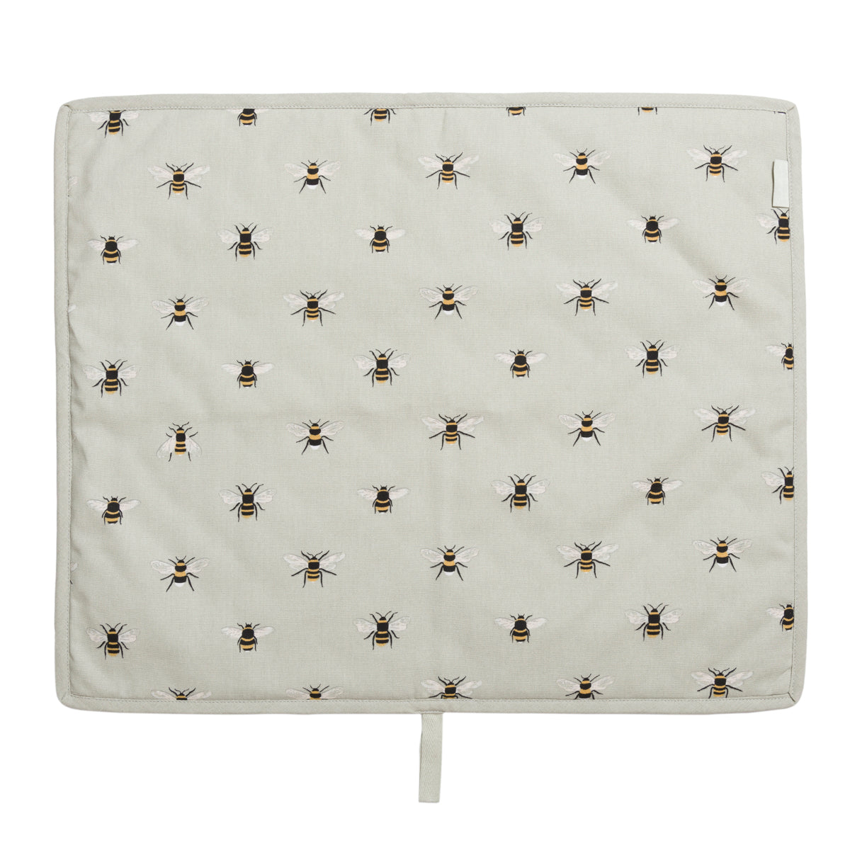 This hob cover is pale green with Sophie Allport's popular bee design featured and perfect for everhots.