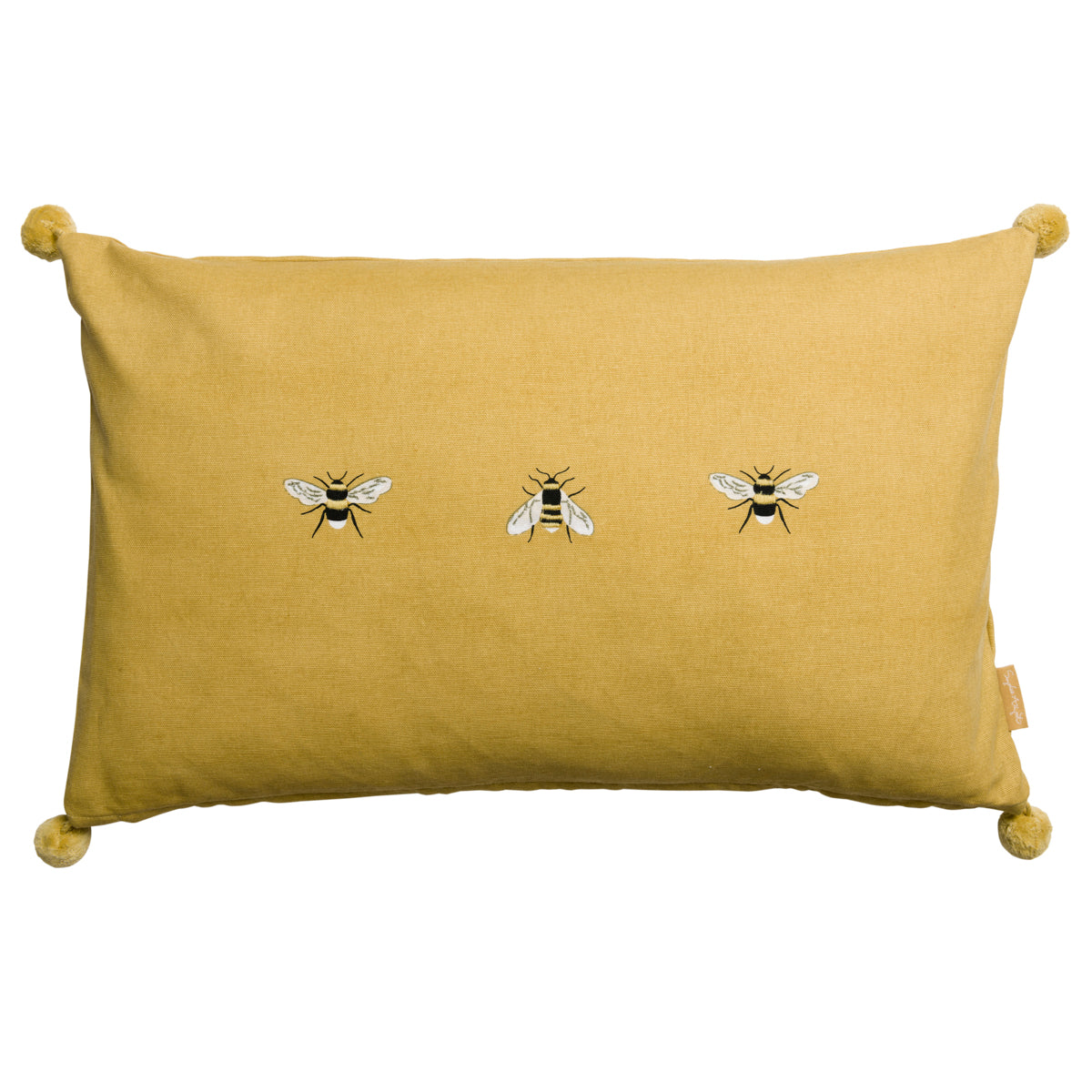 Bees Embroidered Cushion