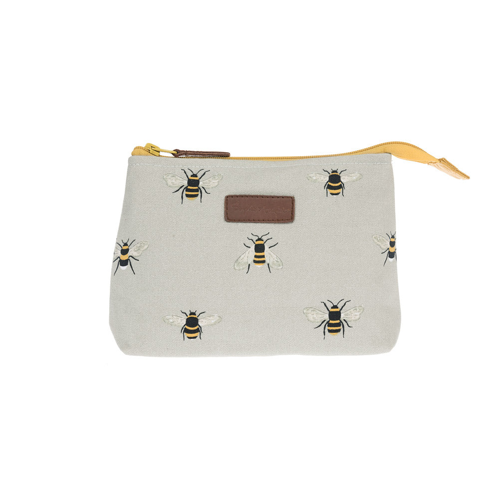 Bees Canvas Makeup Bag - Small