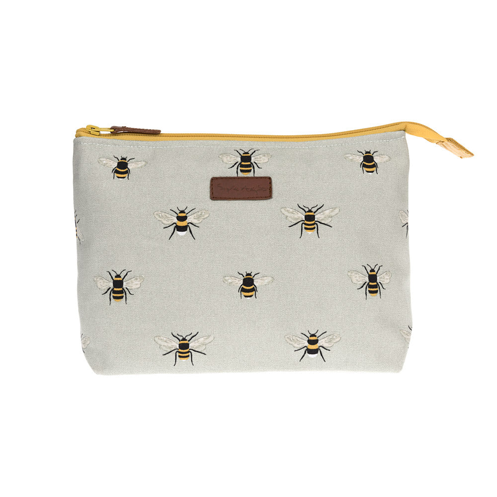 Bees Large Canvas Wash Bag