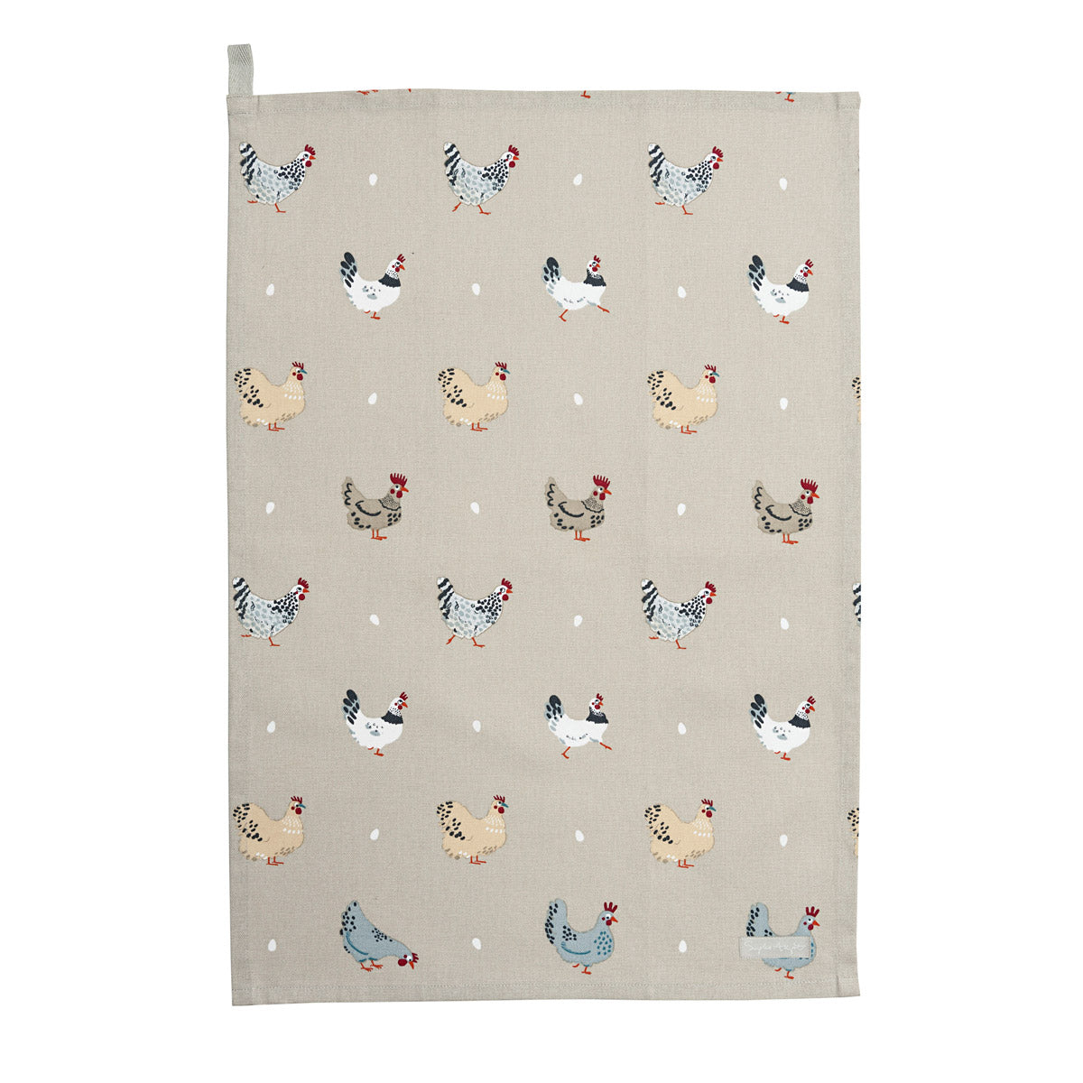 Lay A Little Egg Hen Tea Towel - Set of 2