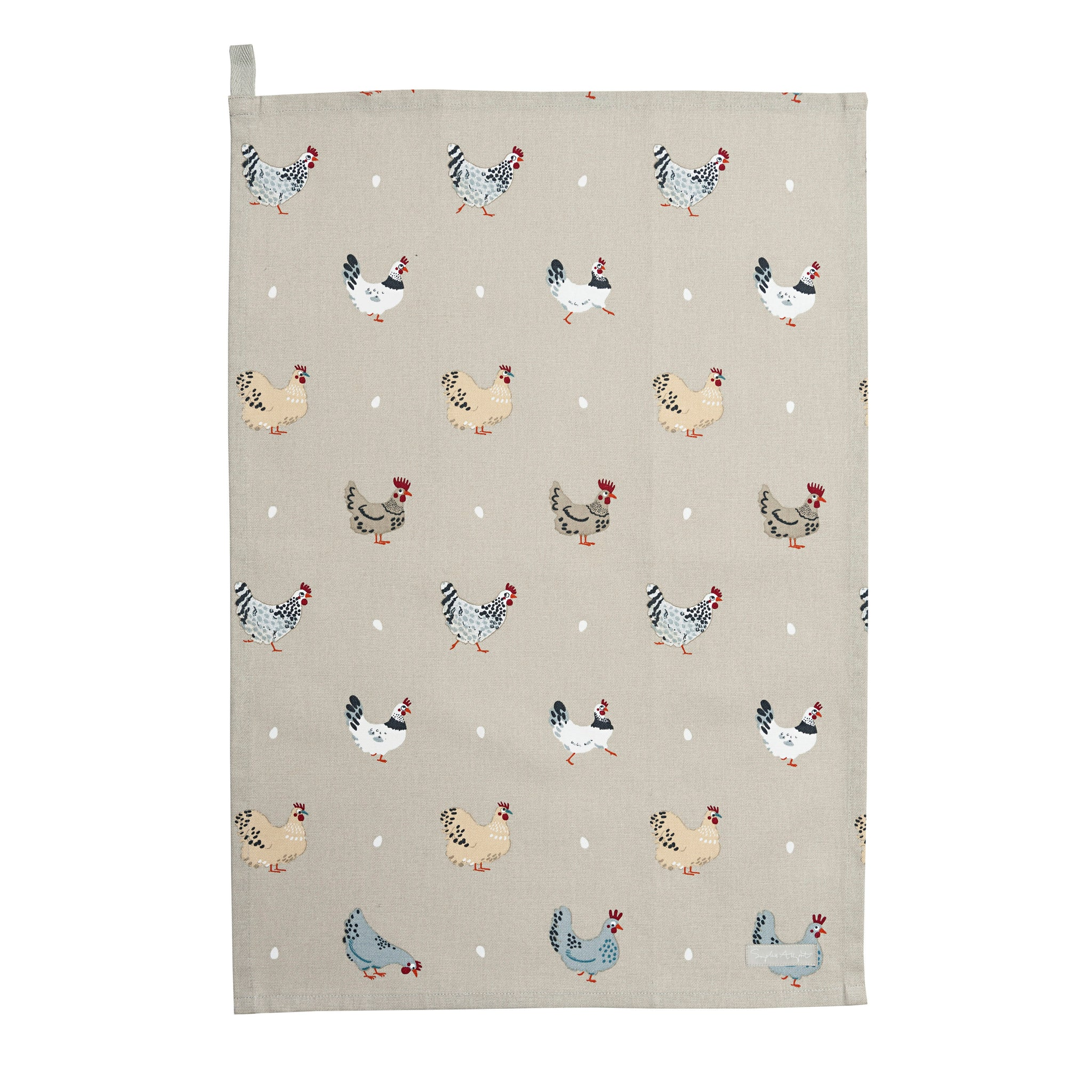 Lay A Little Egg Hen Tea Towel