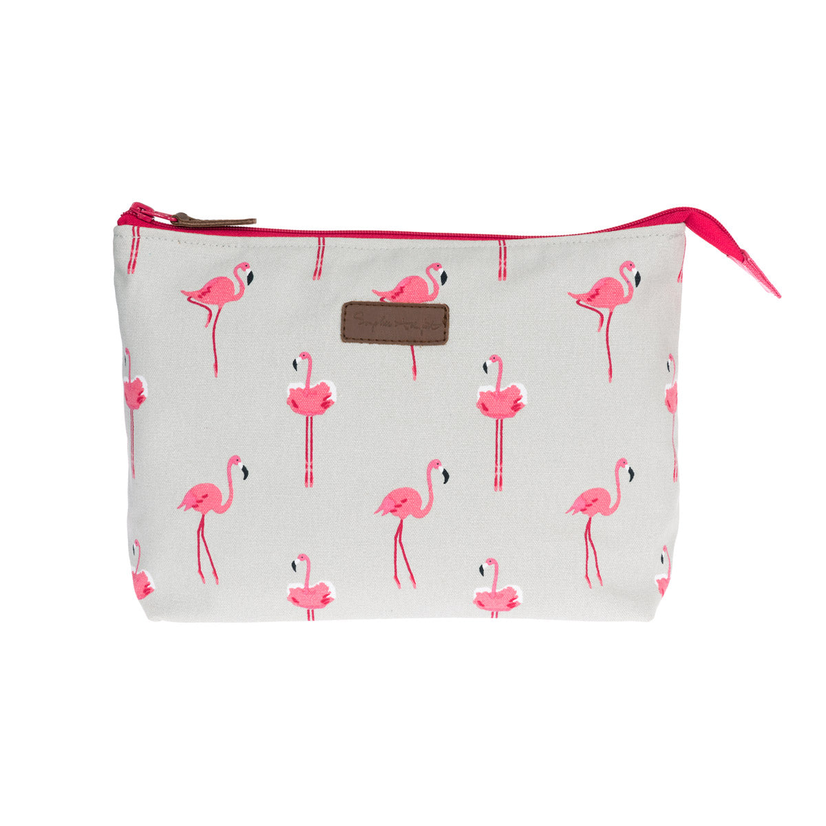 Flamingos Canvas Wash Bag - Large