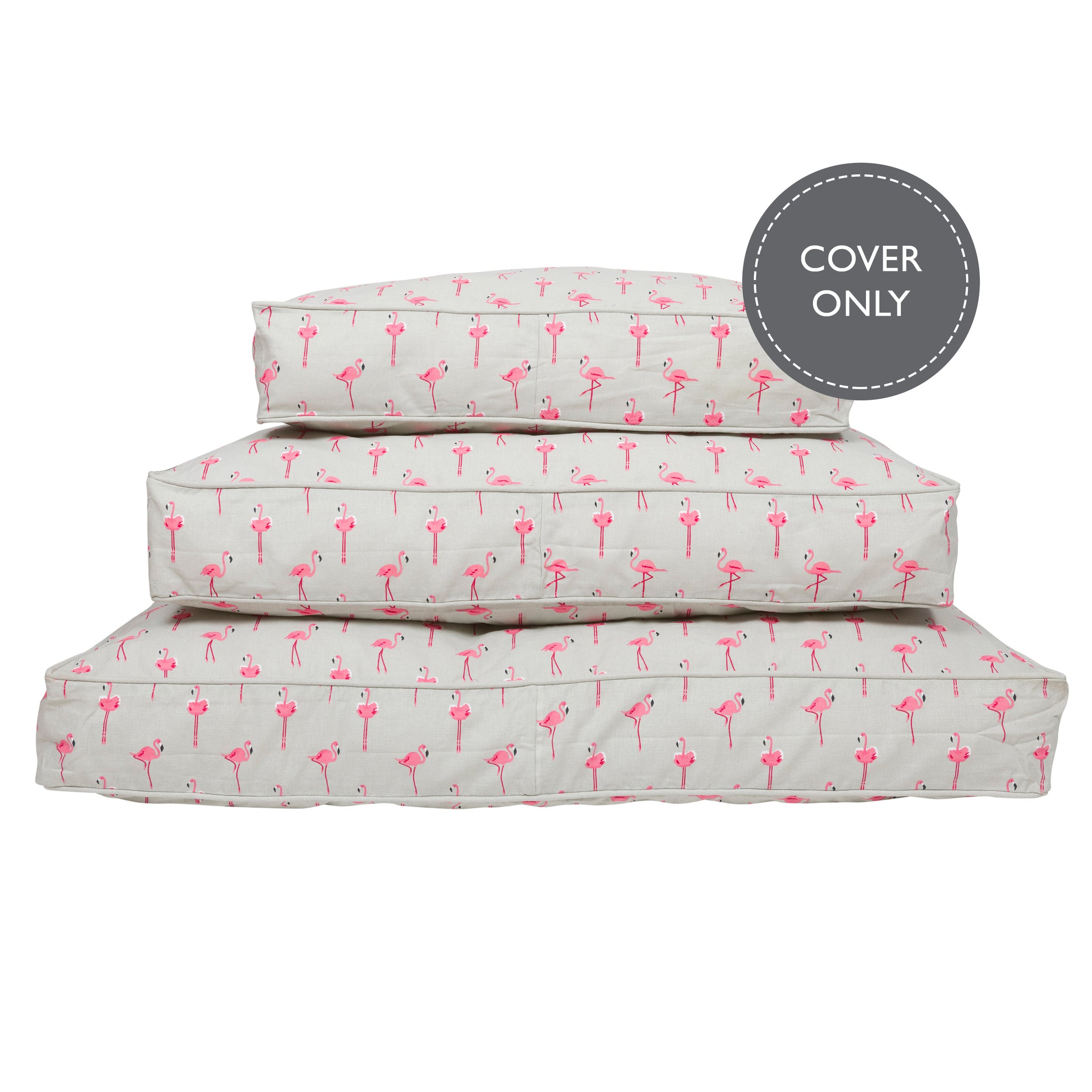 Flamingos Pet Mattress Cover by Sophie Allport
