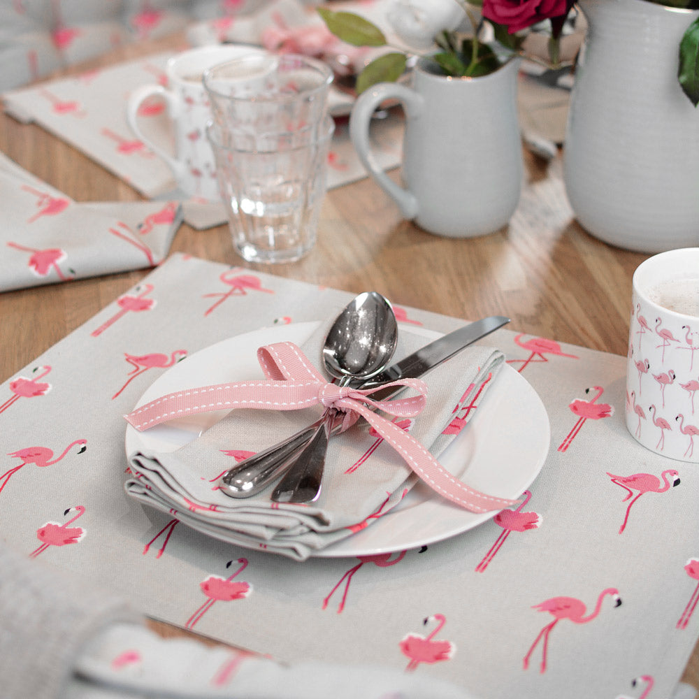 Flamingos Napkins -Set of 4