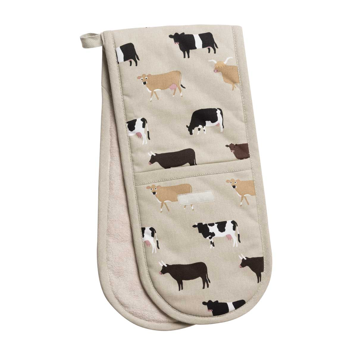 Cows Double Oven Glove