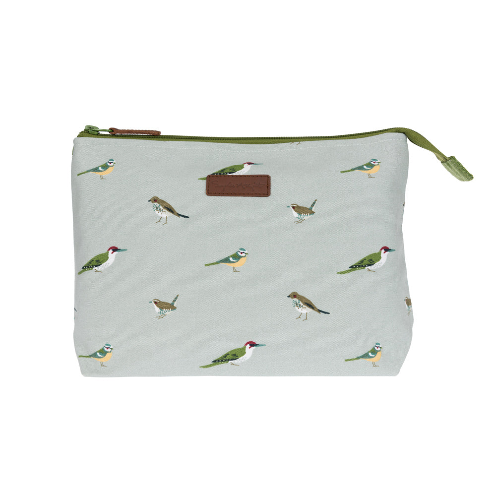 Garden Birds Large Canvas Wash Bag