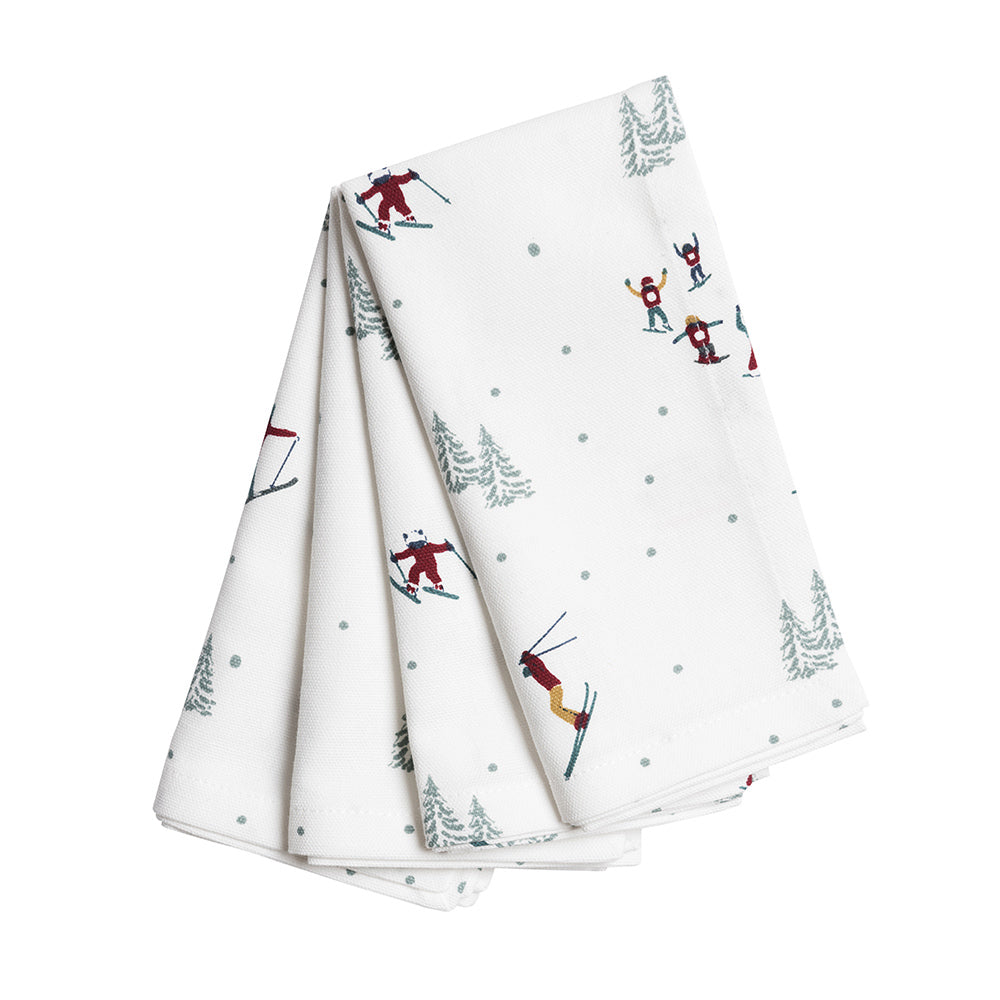 Skiing Napkins (Set of 4)