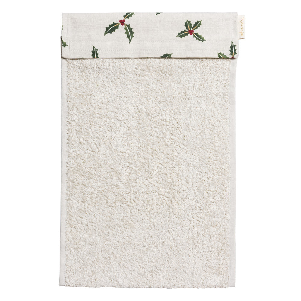 Holly & Berry Roller Hand Towel