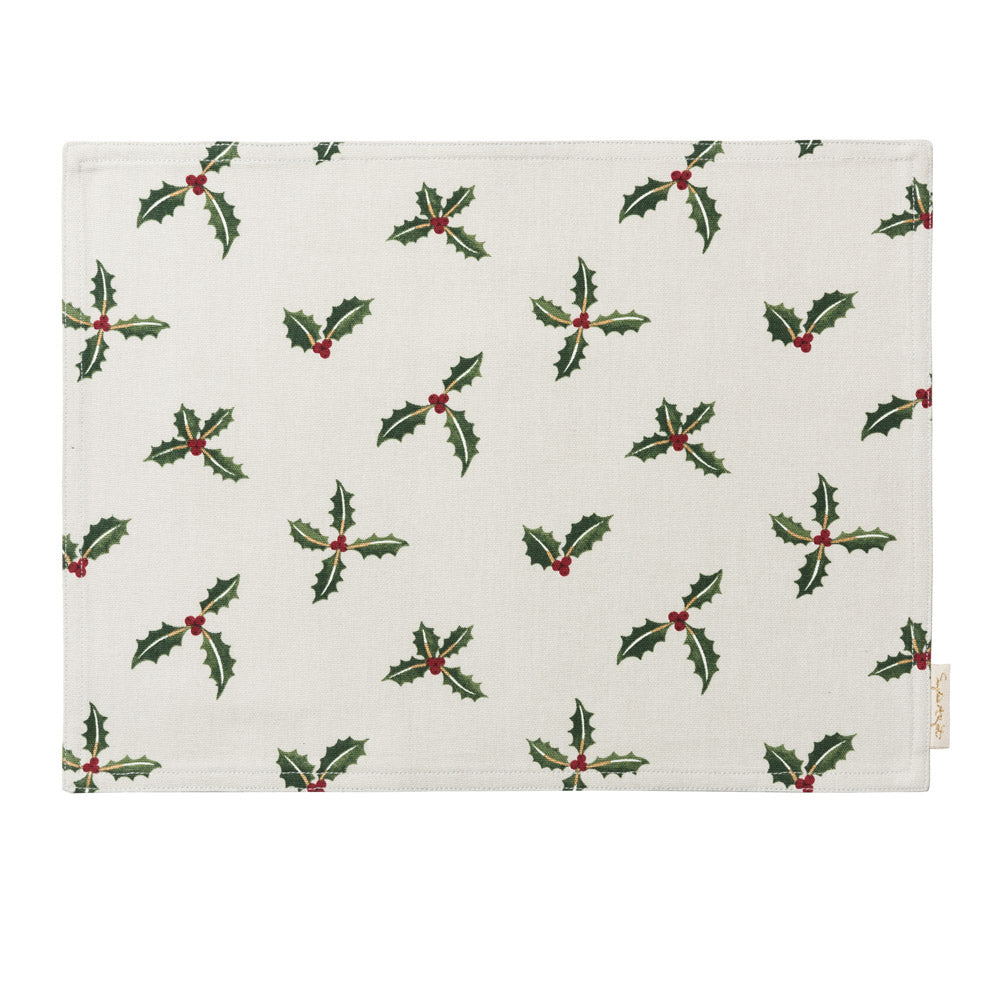Holly & Berry Fabric Placemat