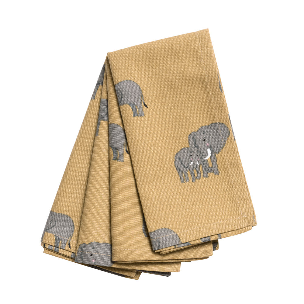 Elephant Napkins (Set of 4)