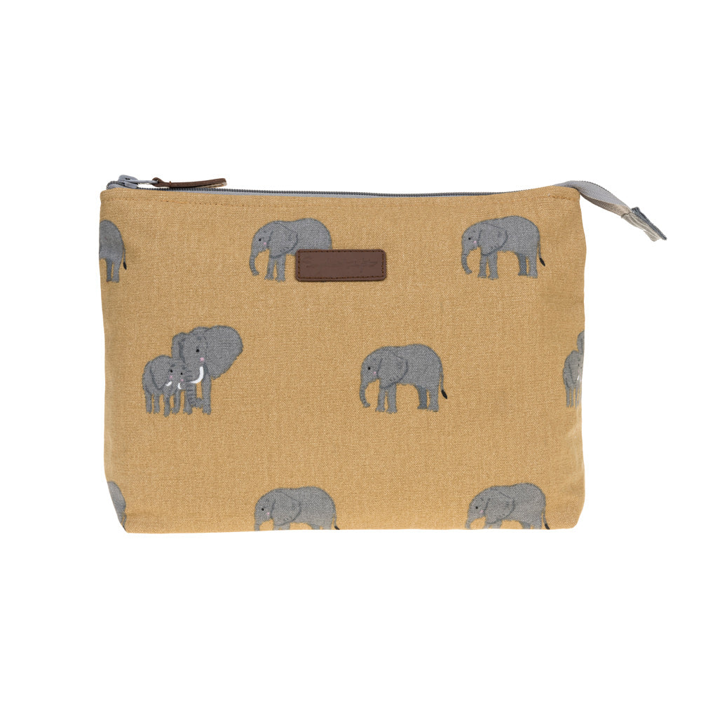 Elephant Large Canvas Wash Bag