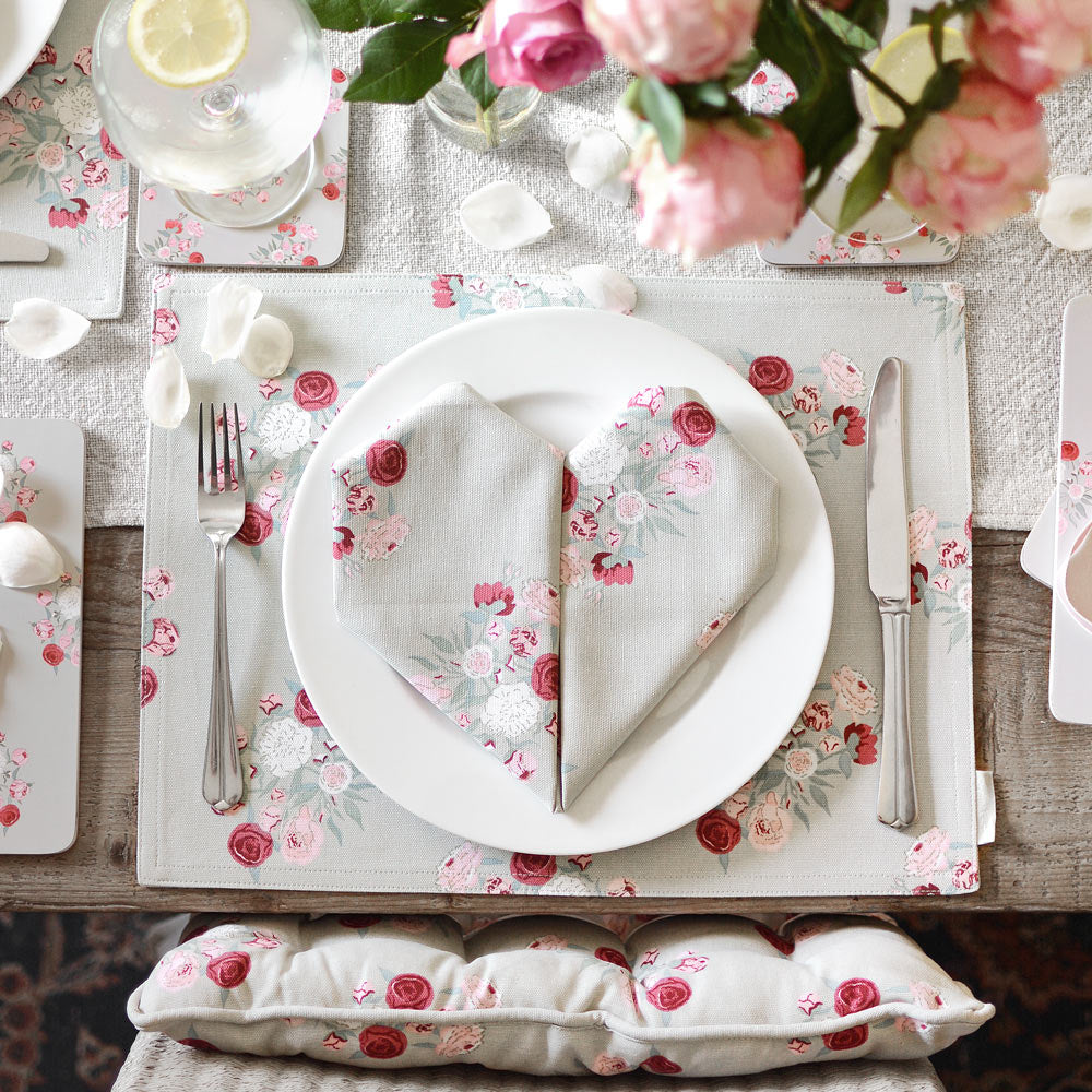 Peony Fabric Placemat