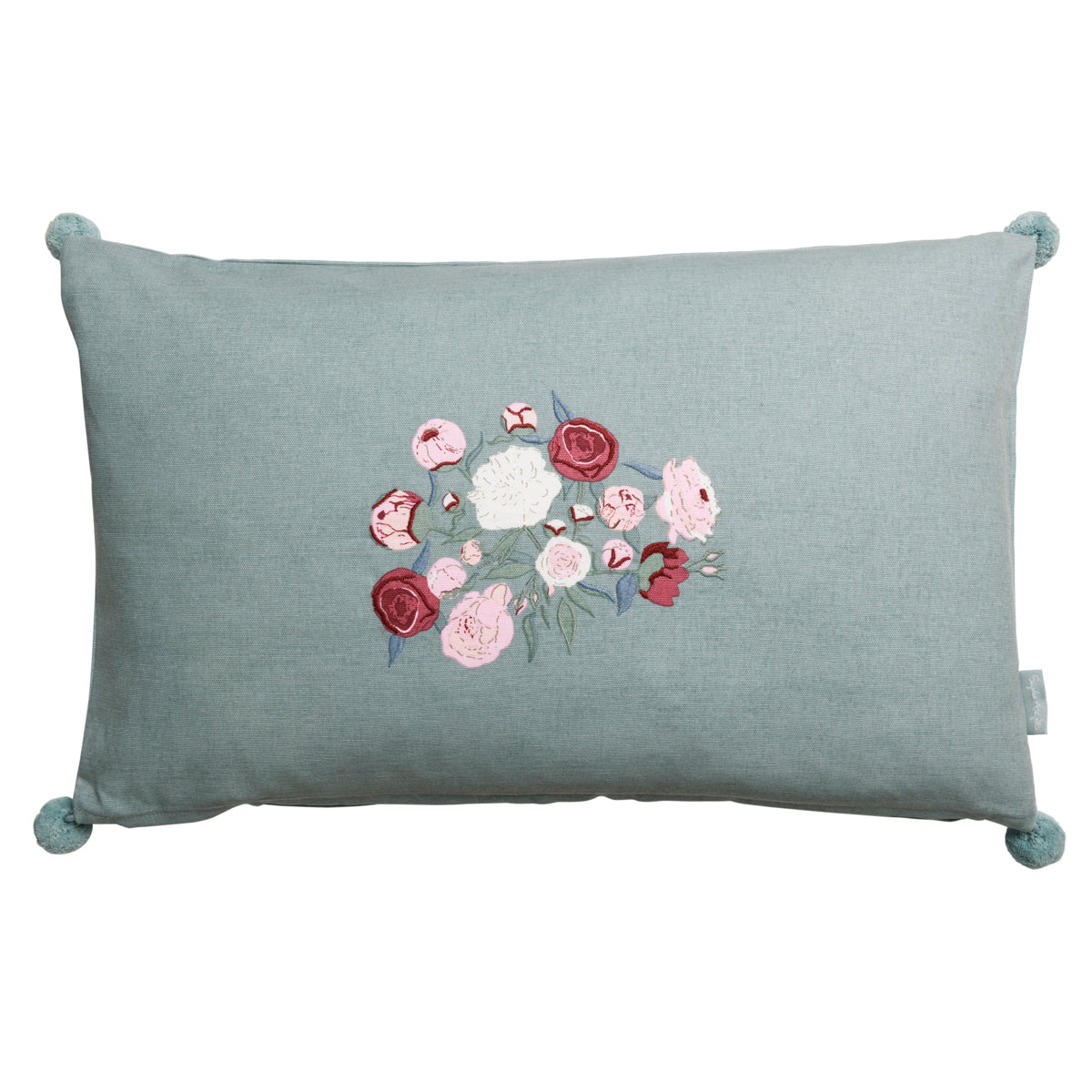 Cushion - embroidered - Peony
