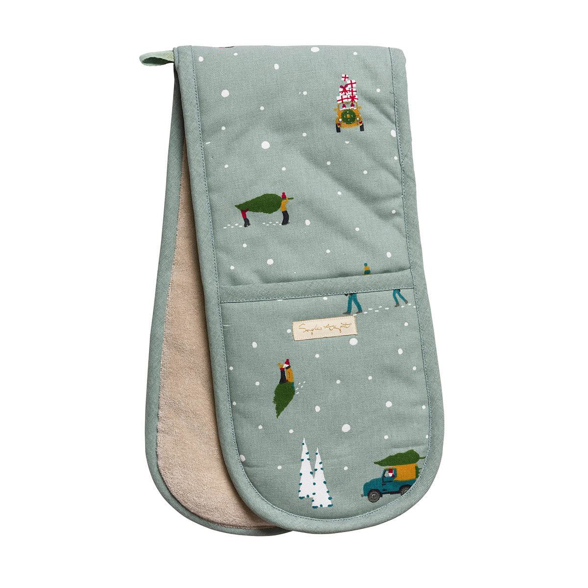 Home for Christmas Double Oven Glove