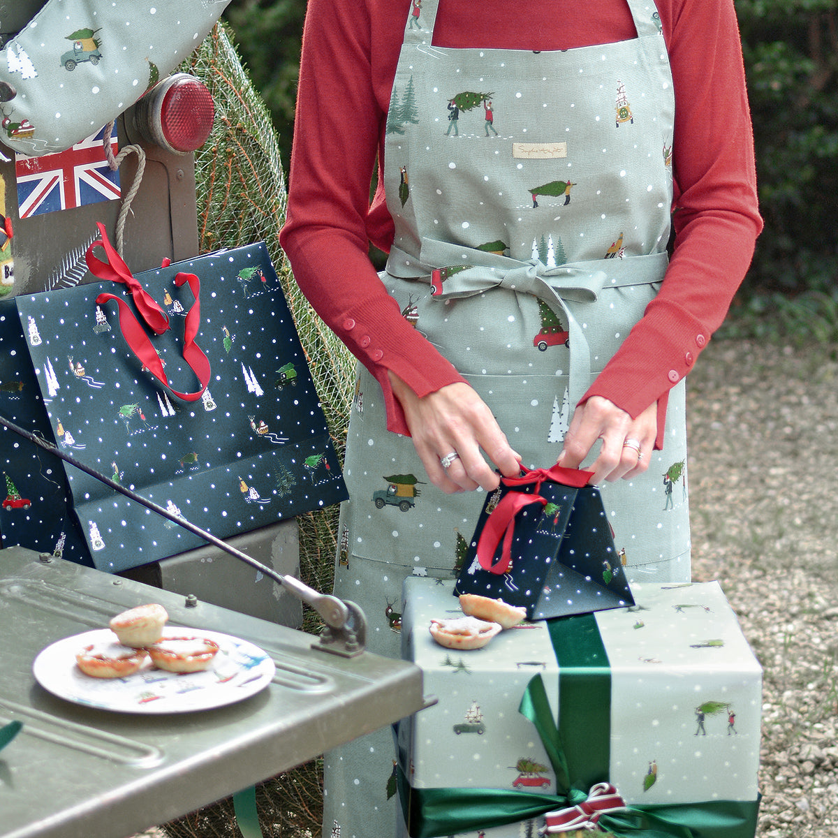 At Home For Christmas Adult Apron