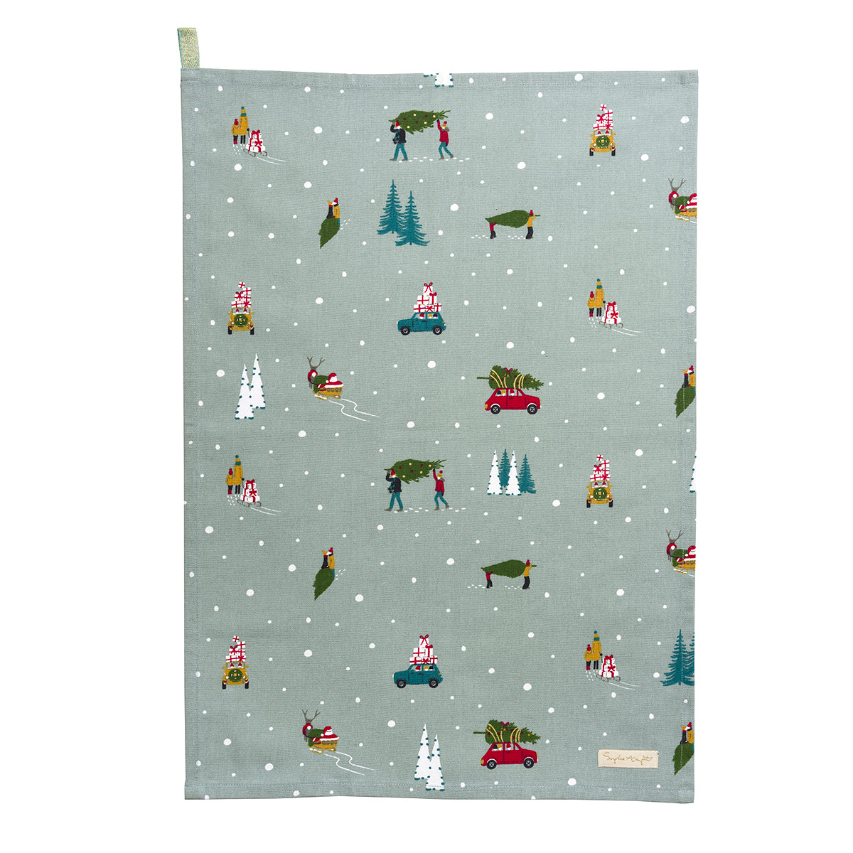 Home for Christmas Tea Towel