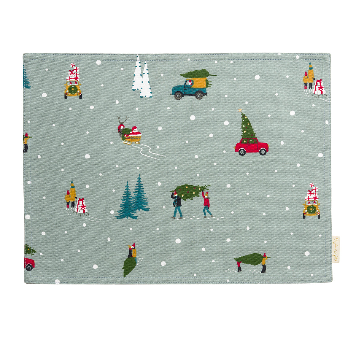 Home for Christmas Fabric Placemat
