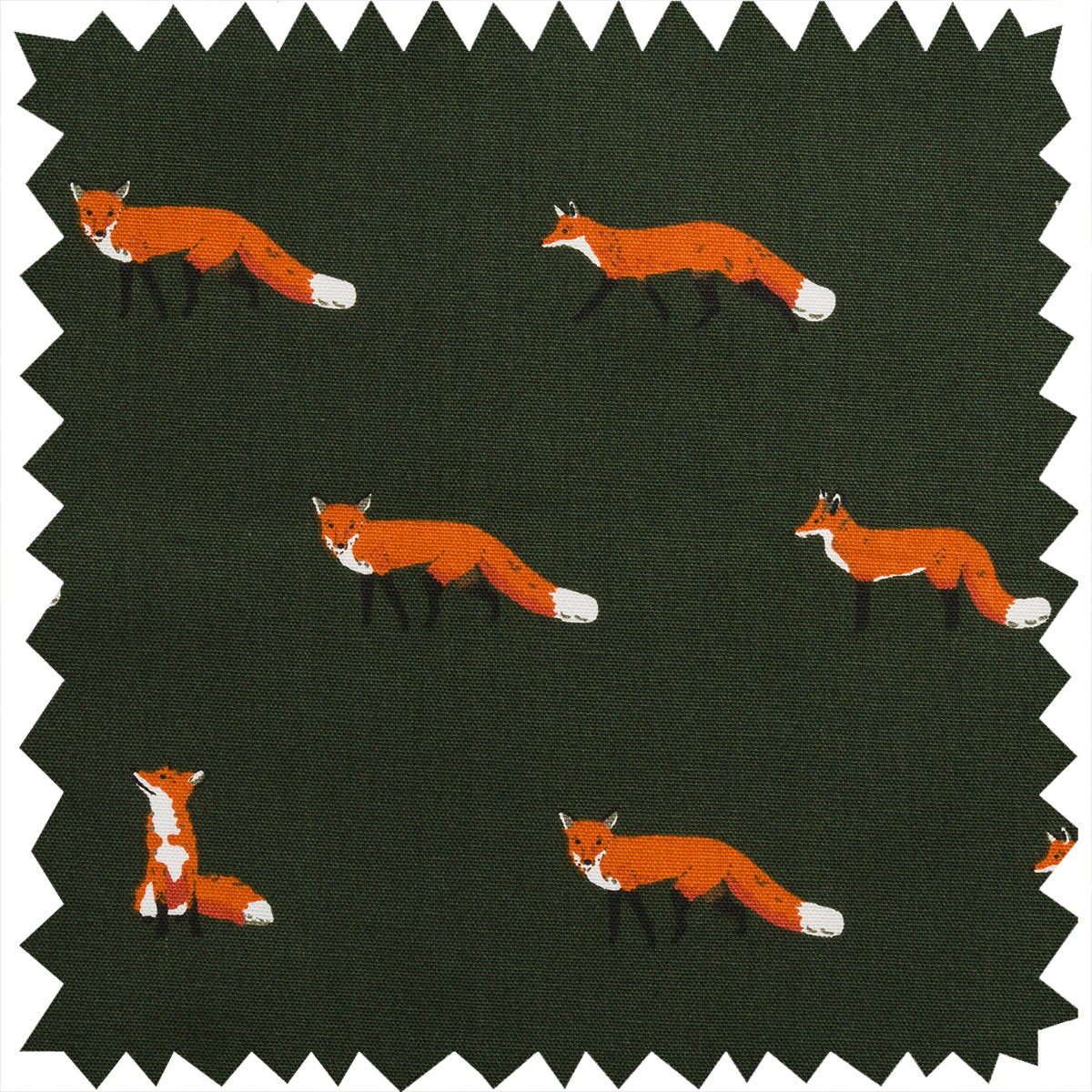 Foxes Fabric by the Metre