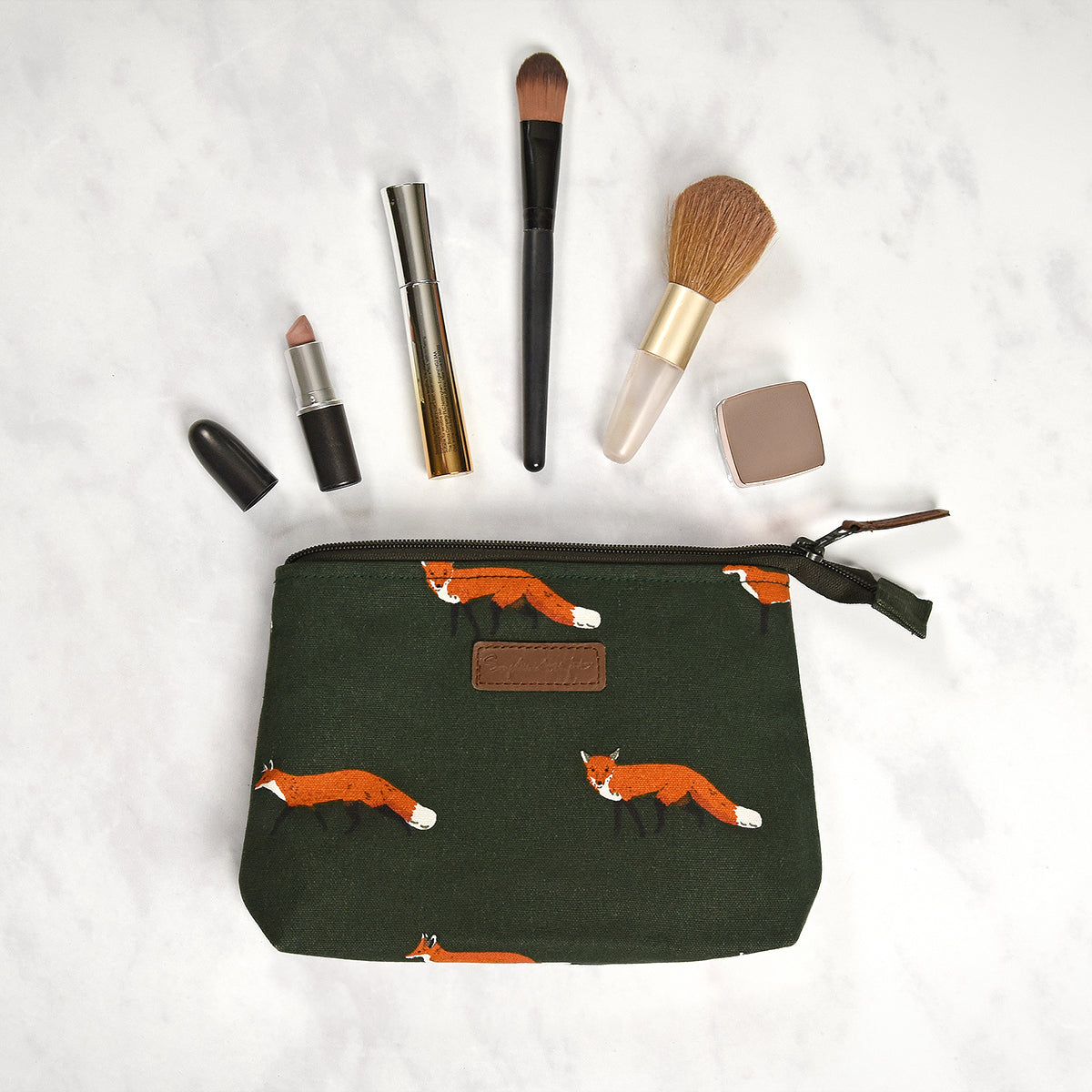 Foxes Canvas Makeup Bag