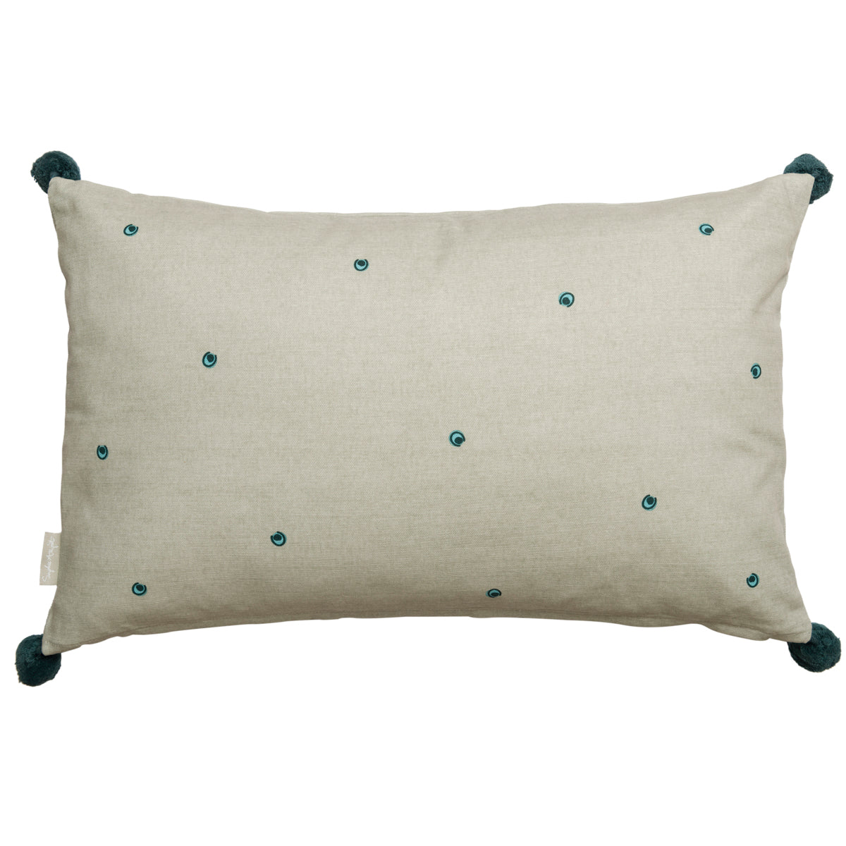 Decorative Peacocks Embroidered Cushion by Sophie Allport
