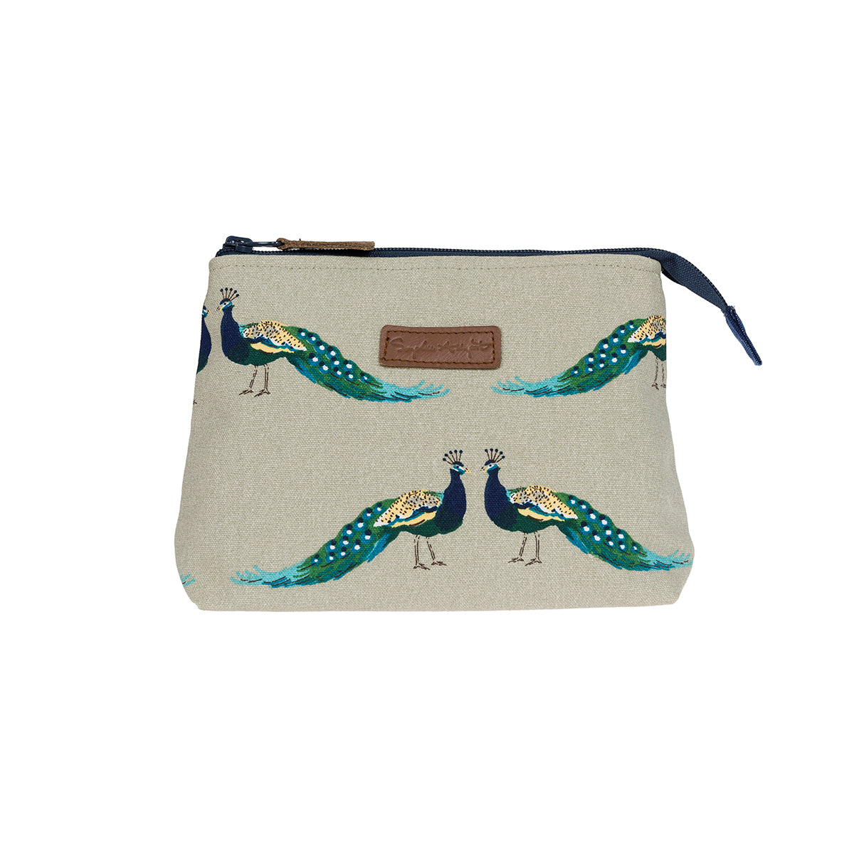 Peacocks Canvas Makeup Bag