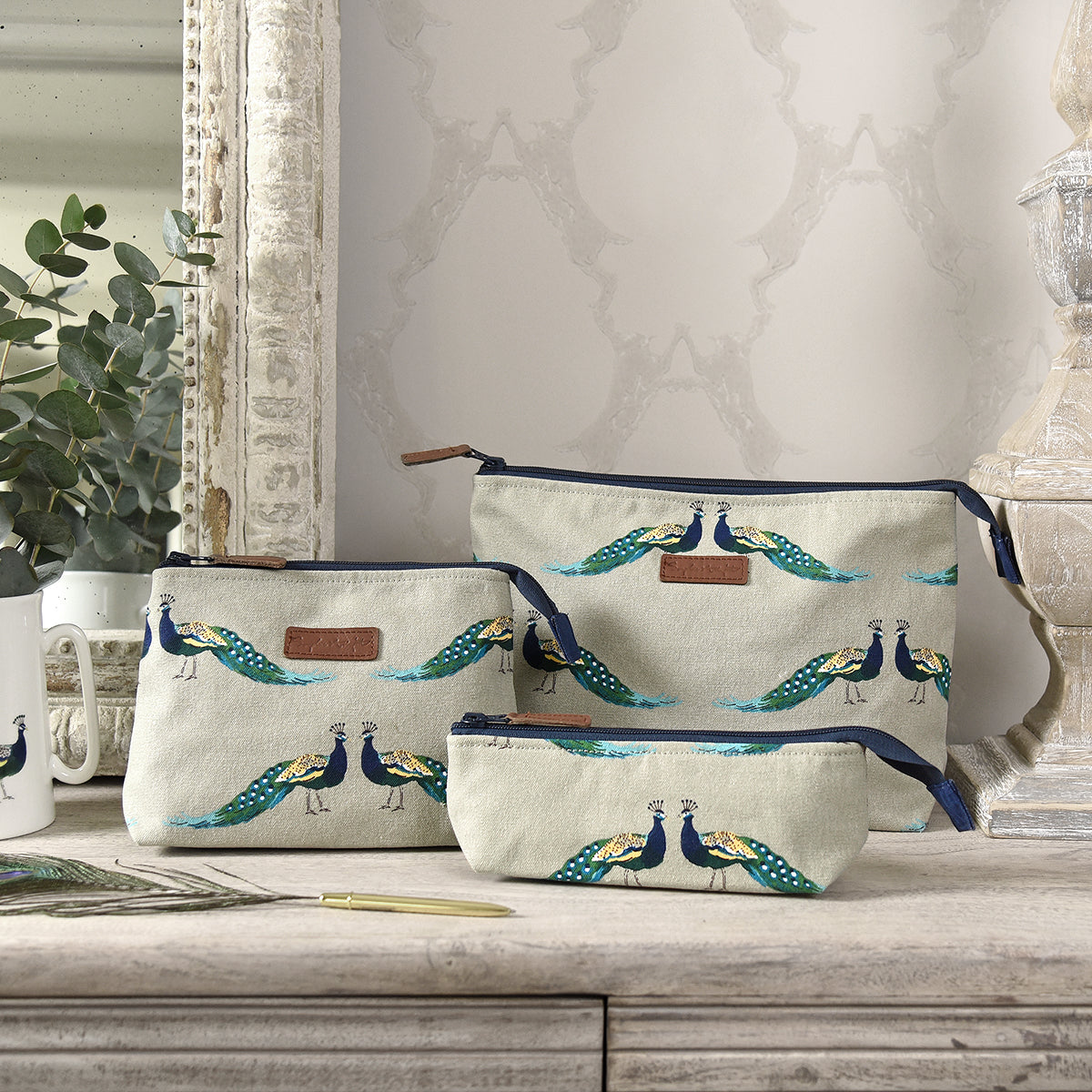 Peacocks Canvas Wash Bag