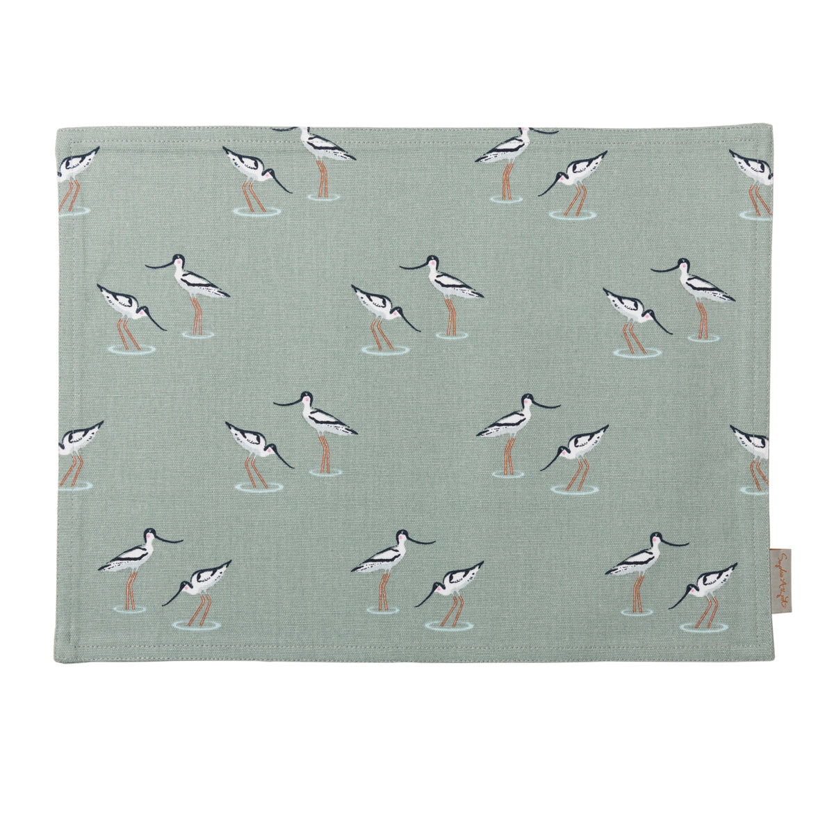Cotton Coastal Birds Fabric Placemat  by Sophie Allport
