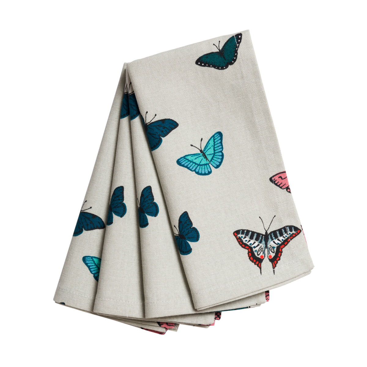 A set of four Sophie Allport Butterflies Napkins