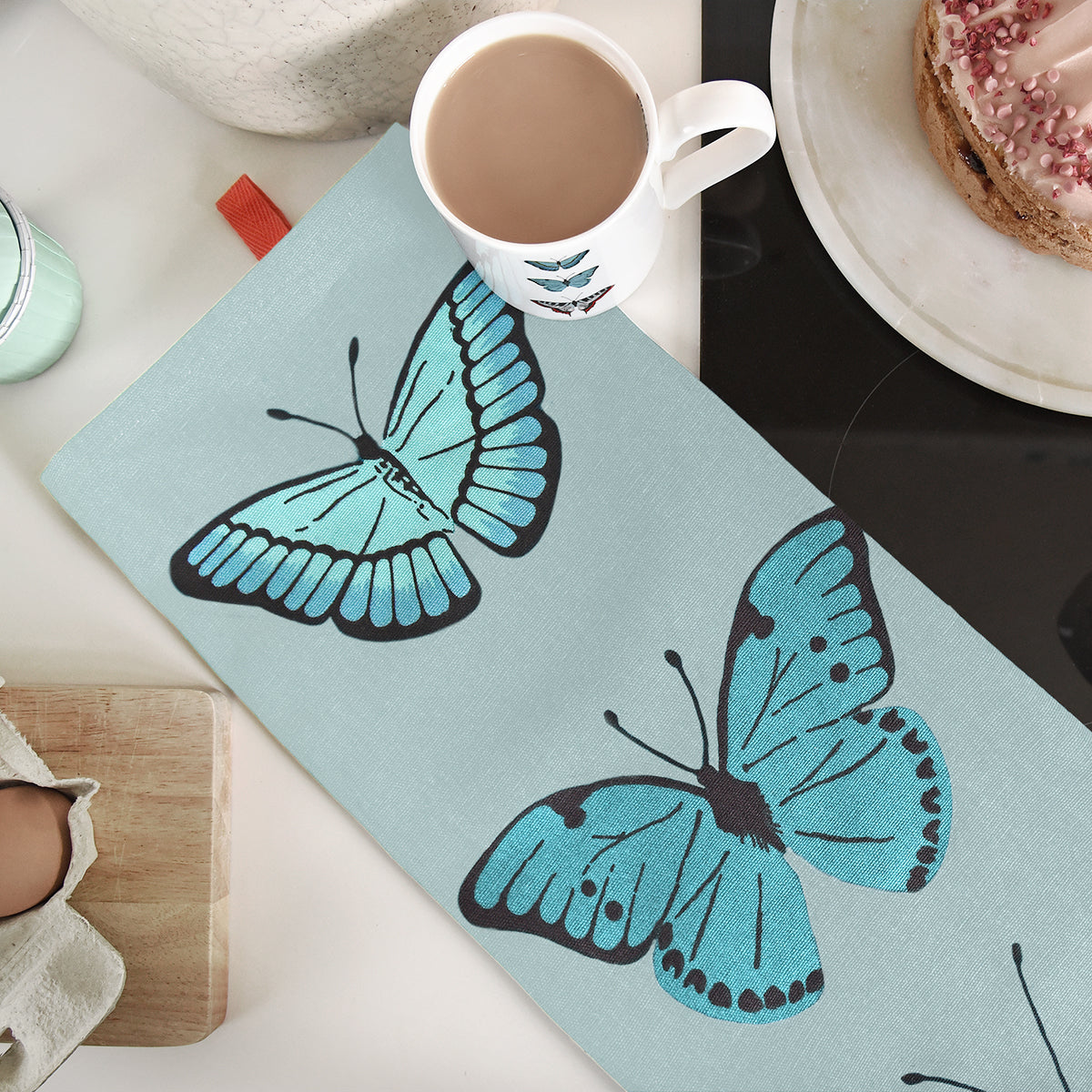 Butterflies Statement Tea Towel by Sophie Allport
