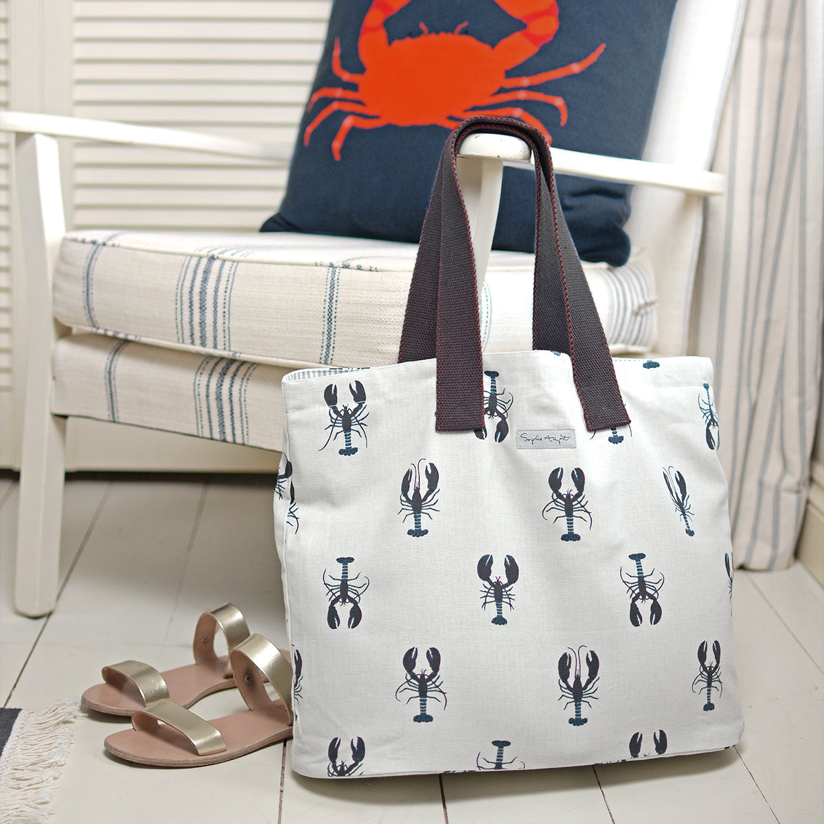 Lobster Cotton Everyday Bag by Sophie Allport