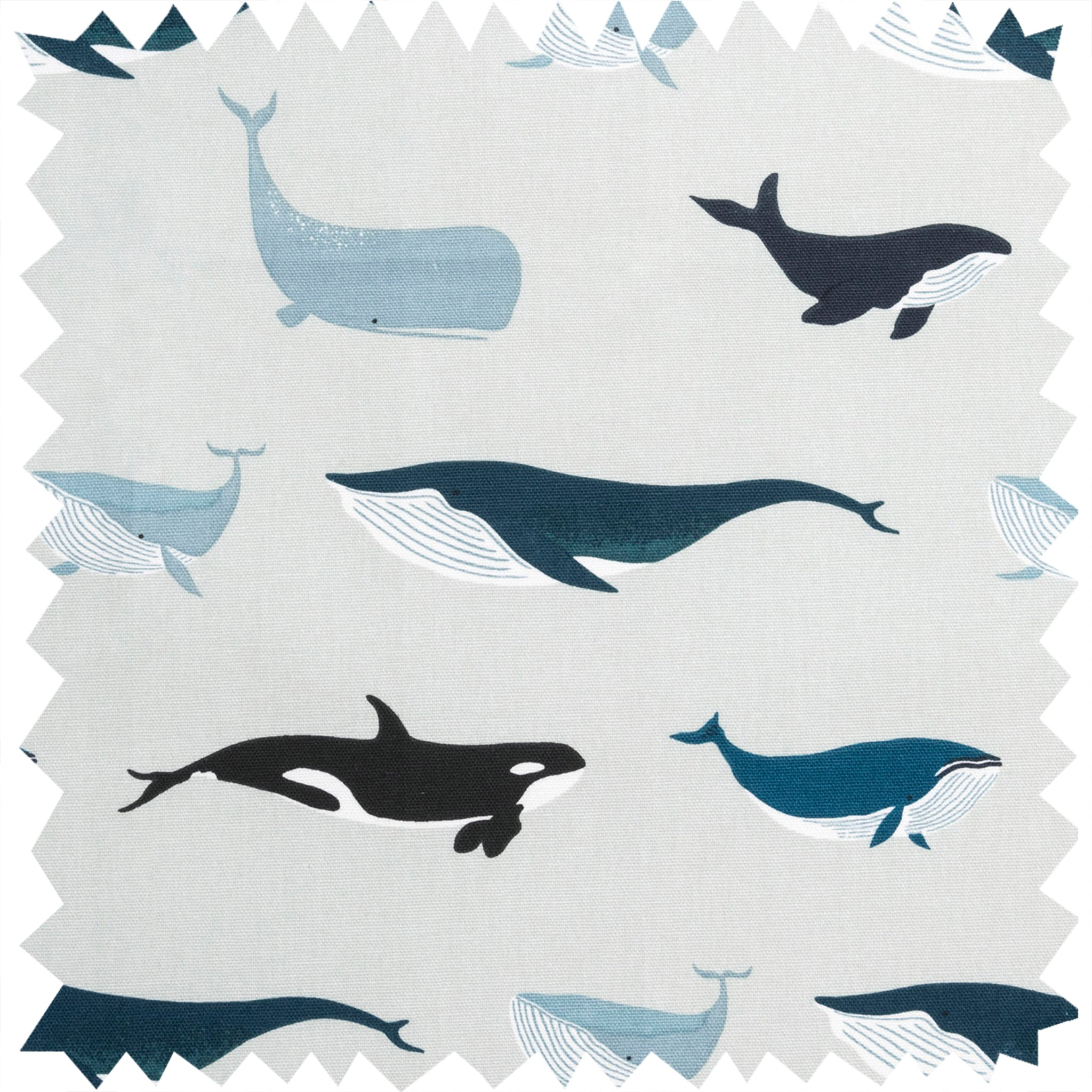 Whales Fabric by the Metre by Sophie Allport