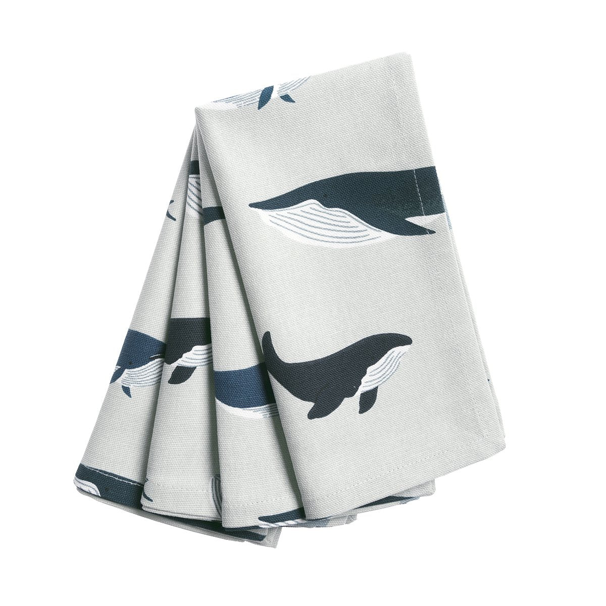 Whales Fabric Napkins (Set of 4) by Sophie Allport