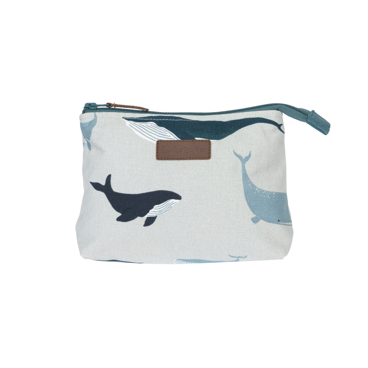 Whales Canvas Makeup Bag by Sophie Allport
